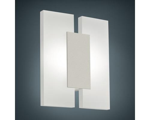 Applique murale LED alu/plastique 4,5W 480 lm 3000 K blanc chaud hxL 200x170 mm Metrass nickel-mat/satiné