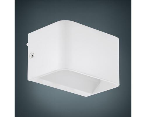 Applique murale LED Alu 6W 600 lm 3000 K blanc chaud hxL 80x130 mm Sania blanc