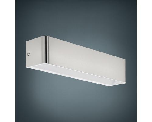 Applique murale LED Alu 12W 1400 lm 3000 K blanc chaud hxL 80x365 mm Sania nickel/mat
