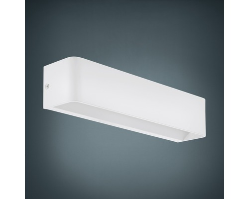 Applique murale LED Alu 12W 1400 lm 3000 K blanc chaud hxL 80x365 mm Sania blanc