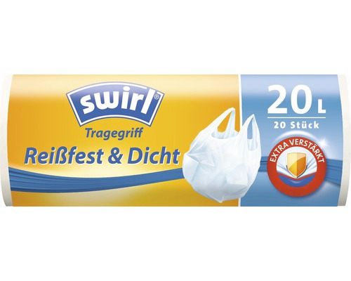 Sachet poubelle Swirl avec poignées de transport 20 l 20 pièces