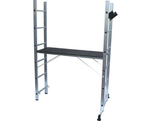 Petit échafaudage CLASSIK 3 en 1 aluminium hauteur de travail 2,45 m