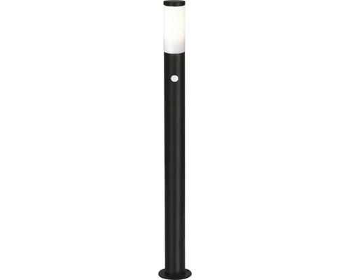 Lampadaire extérieur avec capteur IP44 1 ampoule H 1110 mm Dody noir