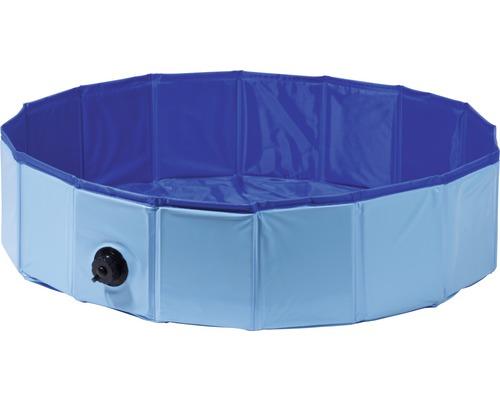 Piscine pour chiens S avec vanne de vidange Ø 80 x 20 cm bleu