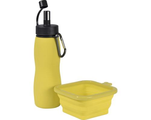 Wanderset, Trinkflasche 450 ml und Napf 350 ml zufällige Farbauswahl