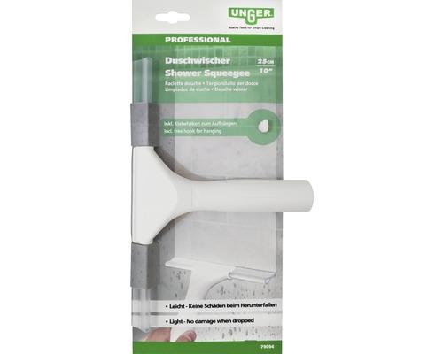 Raclette pour cabine de douche Unger avec crochet adhésif 25 cm blanc