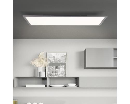 Panneau LED plastique 36W 4428 lm 2600K- 7000 K blanc chaud- blanc naturel hxlxp 55x800x400 mm Jacinda noir/sable avec fonction de mémoire + télécommande + veilleuse