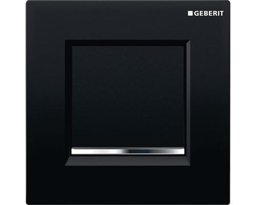 Commande d''urinoir GEBERIT type 30 pneumatique noir/chromé à haute brillance/noir 116.017.KM.1