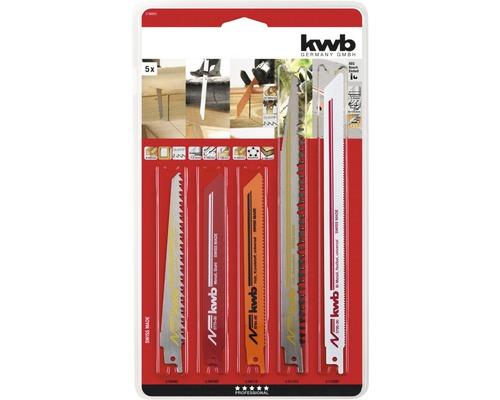 Lames de scie sabre KWB kit, 5 pièces