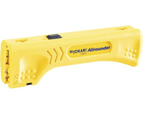 Dénudeur Jokari Allrounder pour câble plat + câble rond jaune