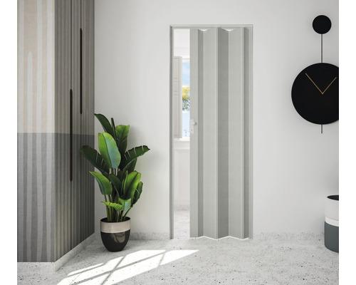 Porte accordéon Marley Rapido gris textile 83x204 cm