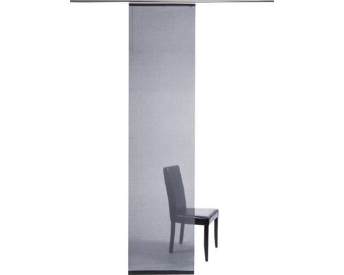 Schiebegardine Manhattan silber 60x245 cm