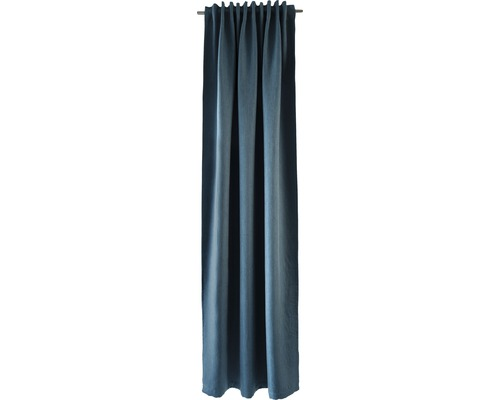 Voile à boucles cachées turquoise 140x245 cm