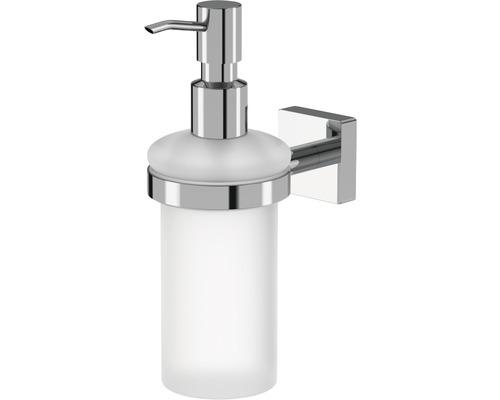 Distributeur à savon avec support Lenz Rain chromé