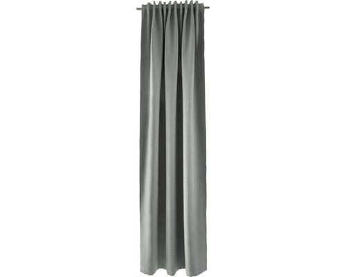 Voile à boucles cachées Galdin gris 140x245 cm
