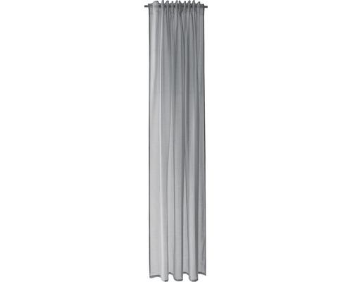 Voile à boucles cachées gris 140x245 cm