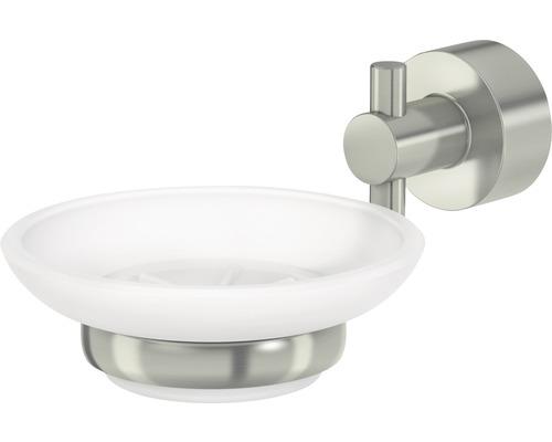 Porte-savon Scala nickel mat avec support
