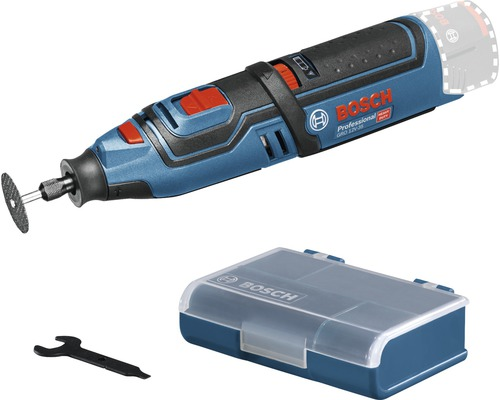 Akku-Rotationswerkzeug Bosch Professional GRO 12V-35 inkl. 5 x Trennscheibe, 32 mm und Zubehör-Box ohne Akku und ohne Ladegerät