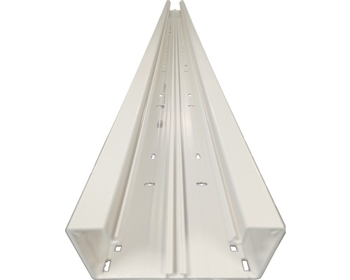 Canal d'allège Hager partie inférieure enclenchement frontal pour BR 68x130 mm blanc signalisation 2,0 m