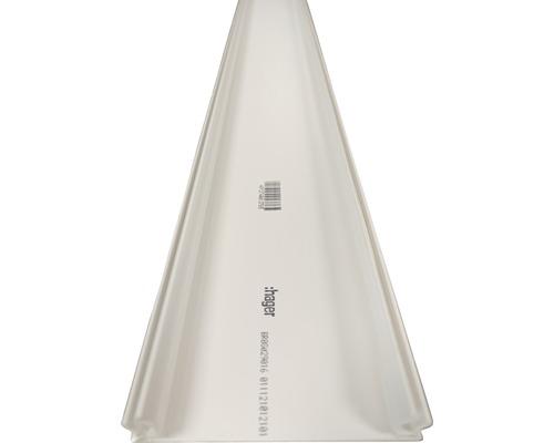 Canal d'allège Hager partie supérieure pour BR avec largeur de partie supérieure 80 mm blanc signalisation 2,0 m
