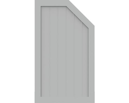 Élément d''extrémité BasicLine type M à droite 70x120 cm, gris