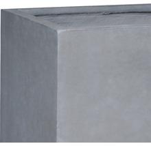 Bac à plantes Lafiora Emil 2.0 pierre artificielle 79x37,5x40cm gris foncé-thumb-1
