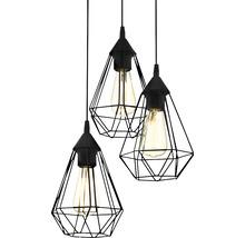 Lampe à suspension Tarbes à trois flammes cuivre Ø 310 mm-thumb-6