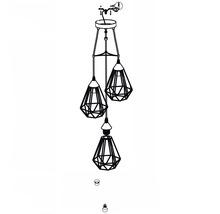 Lampe à suspension Tarbes à trois flammes cuivre Ø 310 mm-thumb-10