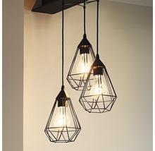 Lampe à suspension Tarbes à trois flammes cuivre Ø 310 mm-thumb-3