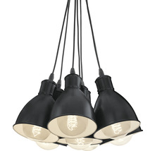 Suspension 7 ampoules Ø385mm Priddy noir/blanc-thumb-7