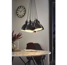 Suspension 7 ampoules Ø385mm Priddy noir/blanc-thumb-3