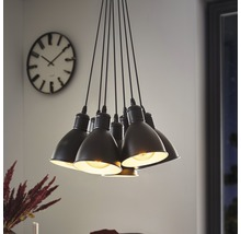 Suspension 7 ampoules Ø385mm Priddy noir/blanc-thumb-4