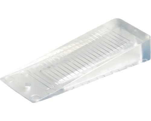 Cale-porte transparent H 1-16 x L 98 x l 37 mm, 1 pièce