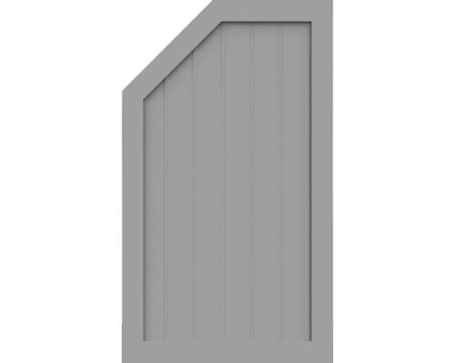 Élément d''extrémité BasicLine type M à gauche 70x120 cm, gris