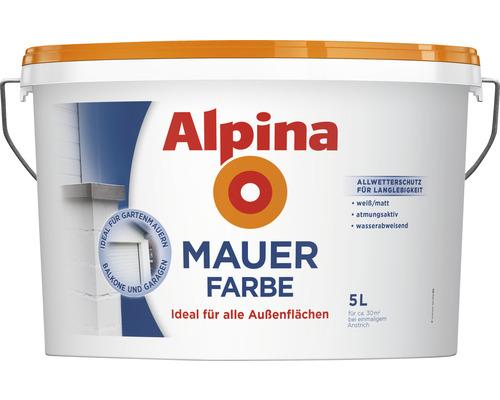 Peinture pour murs extérieurs Alpina blanc 5 L