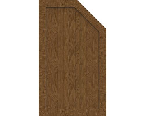 Élément d''extrémité BasicLine type M à droite 70x120/90 cm, golden oak