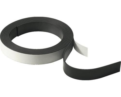 Bande magnétique autocollante, largeur : 19 mm, longueur 2,5 m