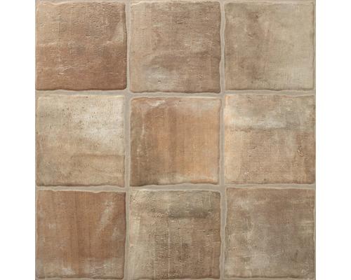 Dalle de terrasse en grès cérame fin Smartgrip R11C rectifié Cotto décor 1 60 x 60 x 2 cm