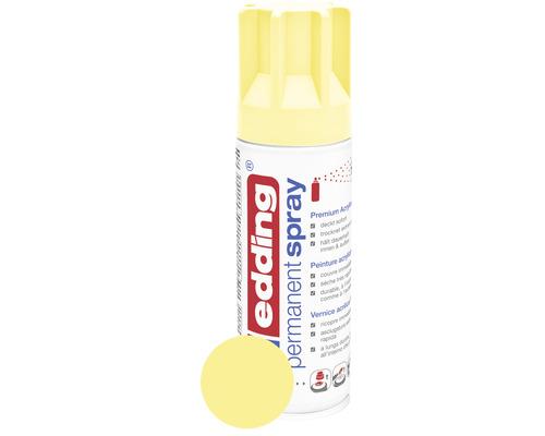 edding® Permanent Spray Sprühlack pastellgelb matt 200 ml