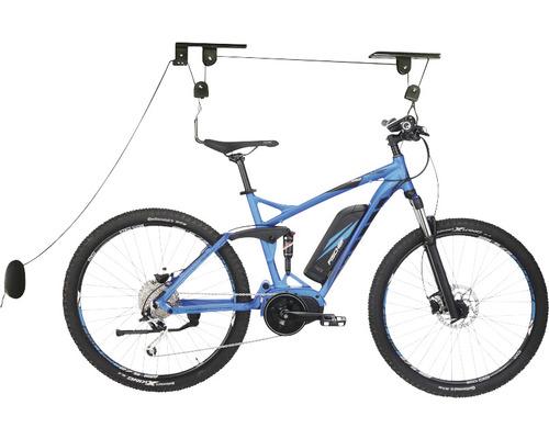 Porte-vélo élévateur FISCHER PLUS capacité de charge jusqu''à 30 kg noir
