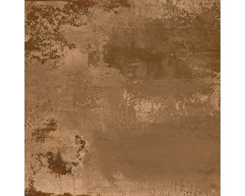 Carrelage sol grès cérame fin Corten brown 60x60 cm rectifié