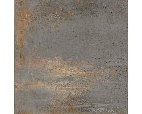 Carrelage sol grès cérame fin Metallic Steel Black 60x60 cmrectifié