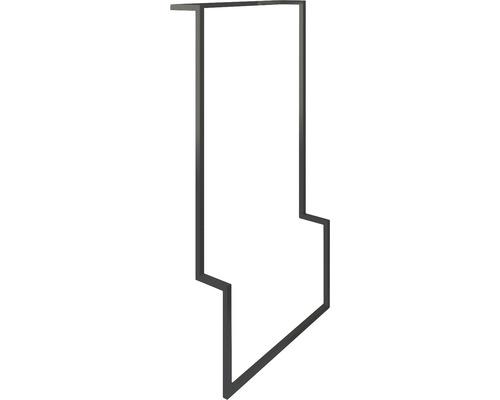 Pied de support et porte-serviettes urban noir mat 15 cm x 90 cm