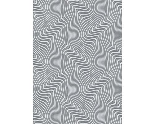 Papier peint intissé 10146-29 GMK ondulations argent