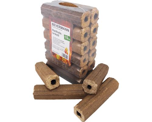 Briquettes en bois dur avec trou 10kg
