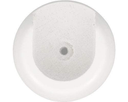Naissance pour tringle en bois Ø 28 mm blanc 2 pièces
