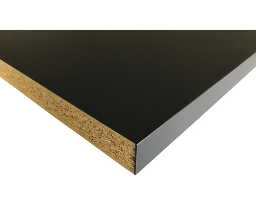 Küchenarbeitsplatte 0190 schwarz Anti-Fingerprint 3050x635x40 mm