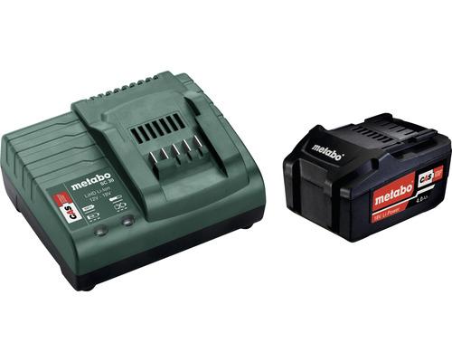 Kit de batterie Metabo 18V Li-Ion (4,0 Ah) batterie et chargeur
