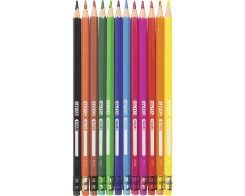Crayons de couleur effaçables 12 pces