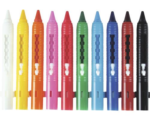 Crayons de couleur en cire étanche à l''eau 10 pces